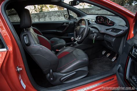 peugeot 208 gti inside 2016 peugeot 208 gti review video performancedrive