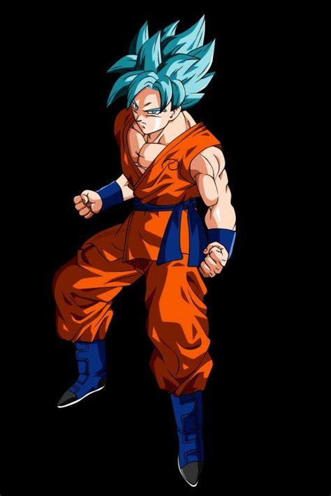 imagenes de goku pelo azul super otaku s colloseum of death ssgss goku vs tengen
