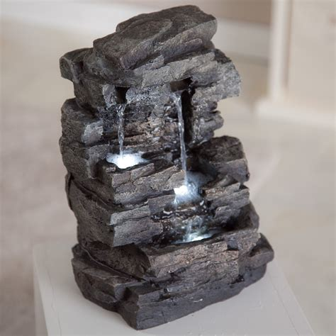 rock waterfall indoor outdoor tabletop fountain fountains at hayneedle