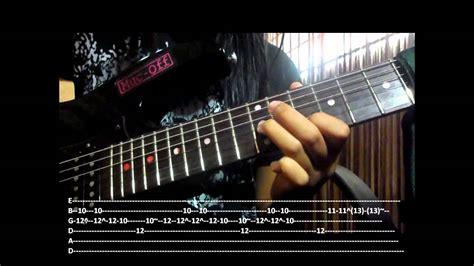tutorial guitar dear god dear god solo tutorial tabs included part 2