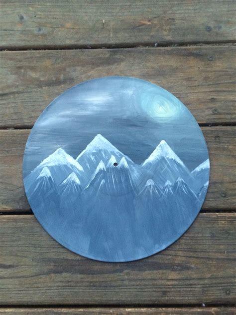 acrylic paint vinyl painting on an vinyl record paint acrylic vinyl