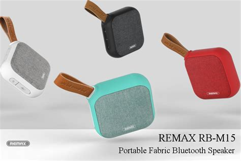 Remax Fabric Bluetooth Speaker With Usb Sound Card Rb M17 original remax rb m15 portable fabric nfc tf card ipx5 waterproof heavy bass bluetooth speaker