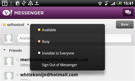 yahoo instant messenger for android yahoo messenger android