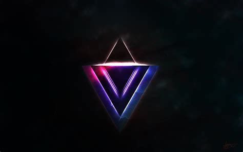 avicii triangles glowing triangles wallpaper 2560x1600 2144 wallpaperup
