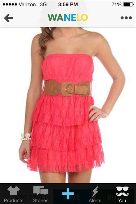 pink dress brown belt country look fashion