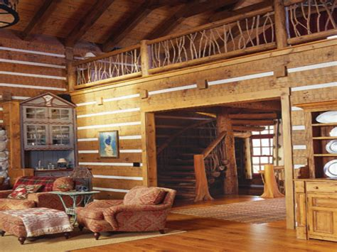 surprising cool log home interior designs guide pics