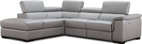 light gray leather sectional perla light gray premium leather power reclining laf