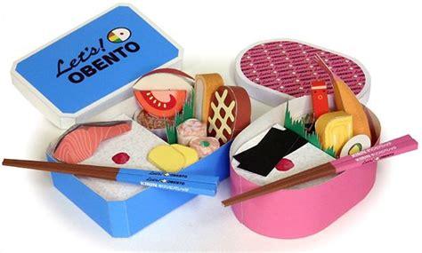 Papercraft Food - papercraft bento boxes paper