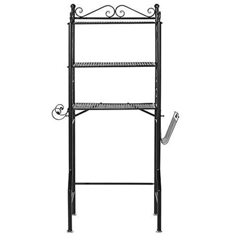 Metal The Toilet Etagere the toilet metal scrollwork 3 shelf bathroom etagere storage organizer rack w magazine