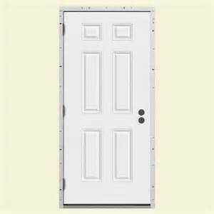 steel entry door home depot 6 panel primed steel frame replacement entry door