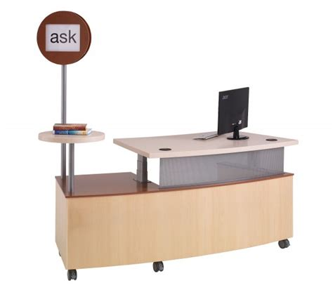 Reference Desk by Technolink Mobile Reference Desk Demco Interiors
