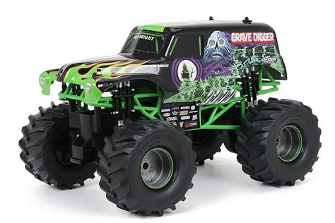 monster jam grave digger rc truck grave digger monster truck remote control 1 10 scale big 2