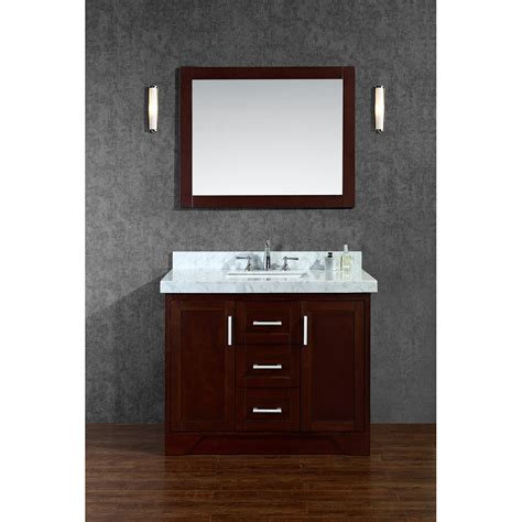 seacliff by ariel ashbury 42quot single sink vanity set with