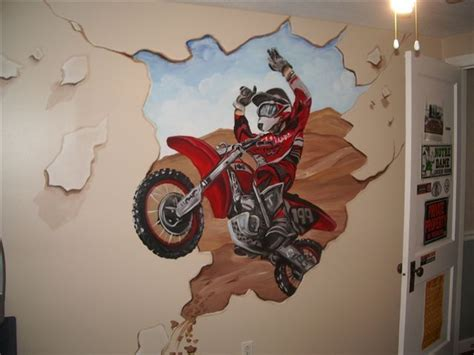 Dirt Bike Wall Murals baby dirt bike room submited images