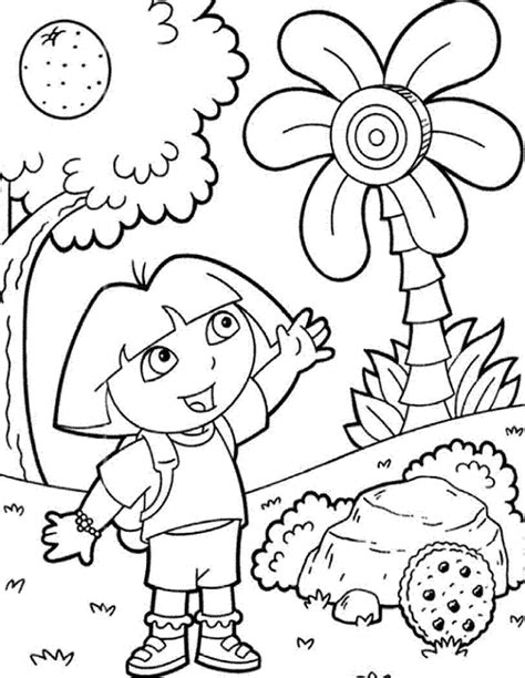 dora coloring pages free online dora coloring pages