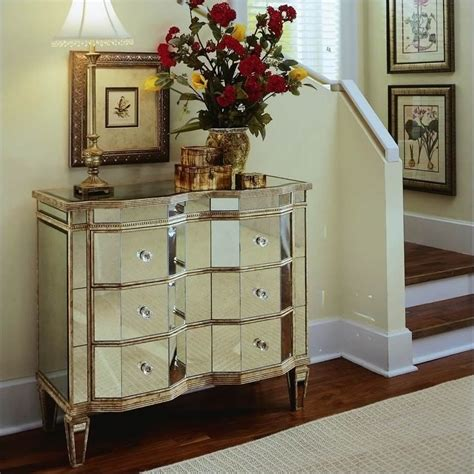 mirrored accent chests for living room ideas home hooker furniture preston ridge mirrored three drawer
