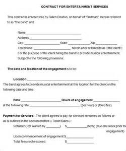 Co Promotion Agreement Template by Band Contract Template 5 Free Word Pdf Documents