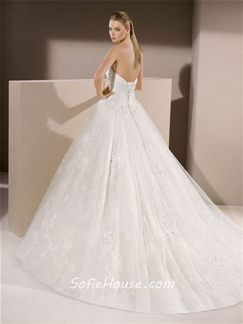 beaded corset wedding dress classic gown sweetheart tulle lace beaded wedding