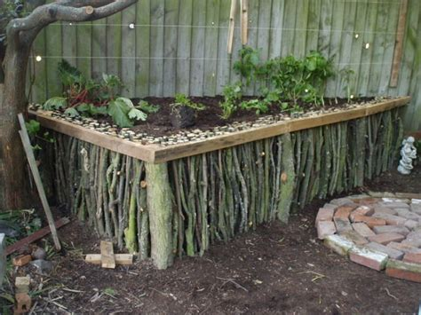 Hugelkultur Raised Garden Beds - diy natural wood raised garden