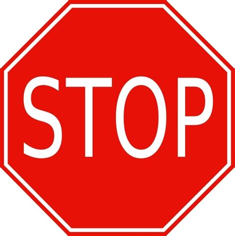 stop sign clip art free vector in open office drawing svg