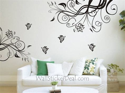 butterfly wall stickers for bedrooms 191 best flowers wall stickers images on pinterest wall