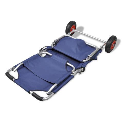 St Channel Maroon 3in1 3 in 1 transportwagen strandwagen strandstuhl strandtisch blau g 252 nstig kaufen vidaxl de