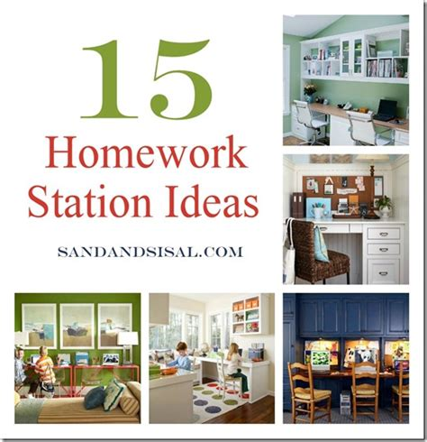 Homework Station Ideas | 15 homework station ideas sand and sisal