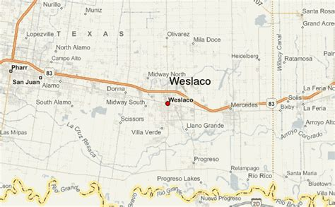 map of weslaco texas weslaco texas map images