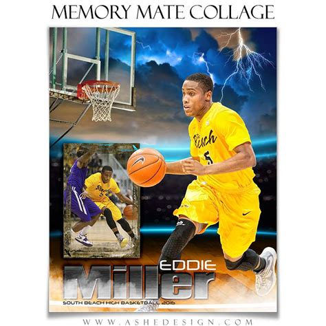 Sports Memory Mates 8x10 Lightning Strikes Basketball Ashedesign Ashe Photoshop Templates