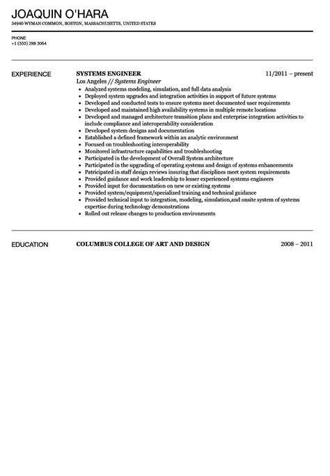 microsoft system engineer resume network administrator resume