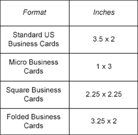 standard business card size template business card sizes inches gallery business card template