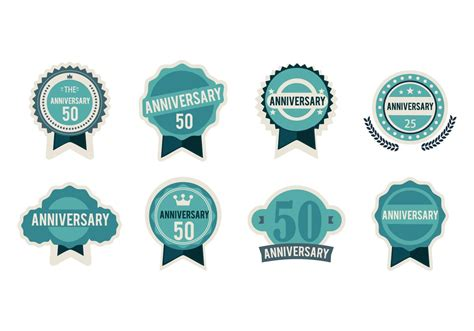 Wps132 Silver Vector Wallpaper Sticker free anniversary badges vector free vector stock graphics images