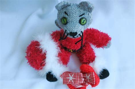 Santa Claus Dolls Handmade - handmade decoration santa claus cat doll