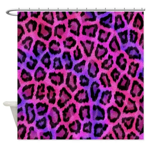pink cheetah curtains pink leopard print shower curtain by allcolor