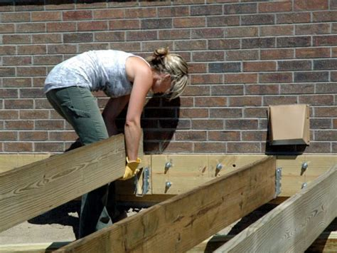 Joist Hangers For Decks by How To Build A Composite Deck How Tos Diy