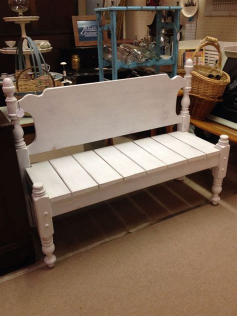 bench made from bed bench made from bed frame teddi s treasures pinterest