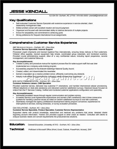 Resume Objective Exles For Customer Service Customer Service Resume Exles Objective Document