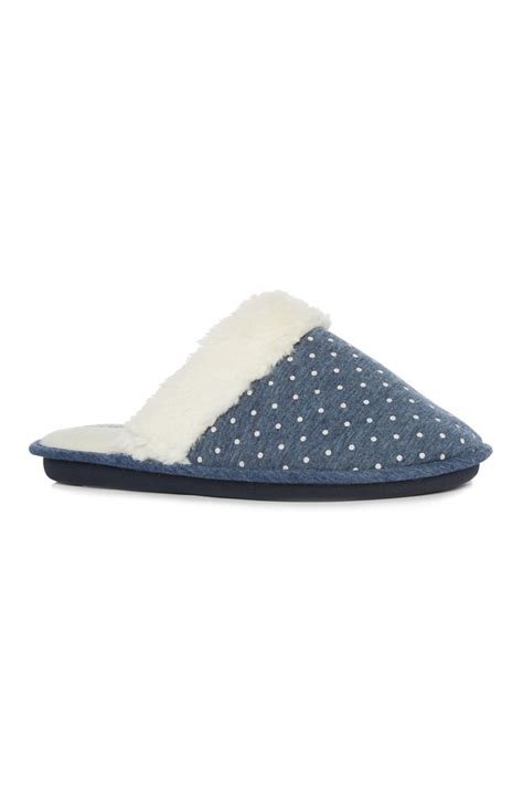 primark slippers stunning navy polka dot slipper by primark