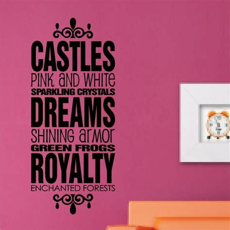 Nautical Bathroom Designs castles dreams royalty princess wall quotes words