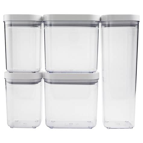 clear canisters kitchen oxo 5 pc food storage canister set clear target