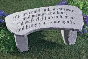 Personalized Remembrance Ornaments If Tears Could Build A Stairway Memorial Bench