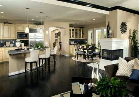 open concept layout love the dining nook would be love the open concept kitchen dining room pinterest