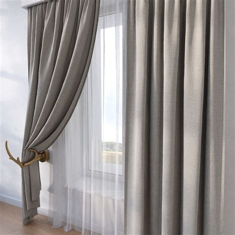 3d curtains curtain sp10 3d model max obj fbx mtl cgtrader com