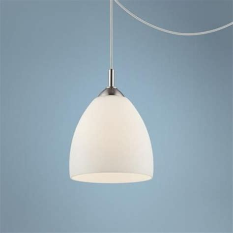 Opal Glass Plug In Swag Style 12 Quot High Pendant Light Swag Style Lights