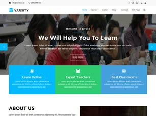 varsity  website template  css templates  css