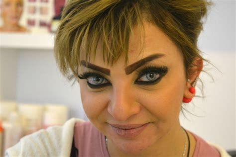 thick tattooed girls iraqi are getting angry looking eyebrows tattooed on