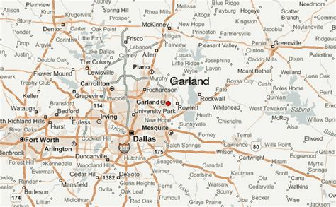 map of garland texas garland location guide