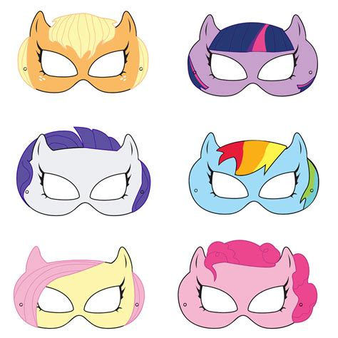 Printable Mask My Little Pony | my little pony printable masks by hungrypandasupplies on