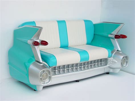 car sofas 59 cadillac sofa in turquoise 1959 cadillac car sofa