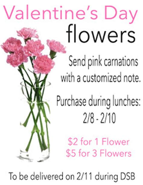 valentines day flower sale holliston high news flower sales